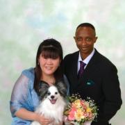 ブライダル 写真館 東京 写真の高橋  ペットと一緒に結婚写真4