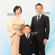 入学記念家族写真