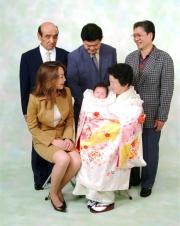 (C)写真の高橋  家族写真 ペットと一緒に