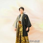 成人式羽織袴姿で記念写真は江戸川