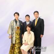 成人式の記念  ご家族写真は江戸川区で