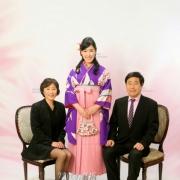 卒業式写真,家族写真