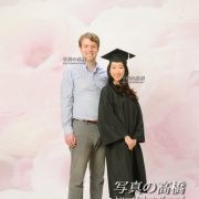 友人と卒業記念写真