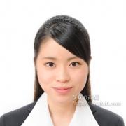 就職活動証明写真髪型ハーフアップ19
