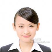 就職活動写真 表情例23 髪型前髪髪色