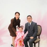 七五三記念家族写真