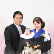お宮参り写真12 ご家族記念写真