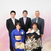 お宮参り写真9 江戸川区写真館で記念写真