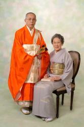 ご住職様と奥方様の記念写真