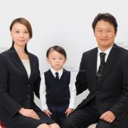 家族証明写真 幼稚園 ネクタイ,服装,,髪型お見本