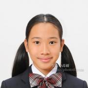 中学校、 受験写真 受験用髪型,服装見本に