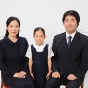 受験用家族写真 服装や髪形ご参考に