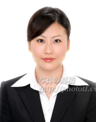 就活証明写真64メガネなし デキルイメージの就職証明写真。