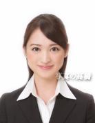 就活写真,髪型ロング 前髪髪色修整無料、,女性のお見本就活証明書用写真86