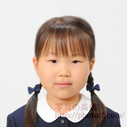 お受験写真 小学校 服装,髪型見本