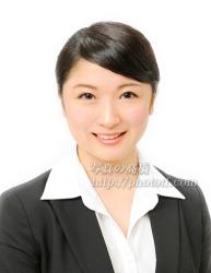 客室乗務員髪型写真99笑顔