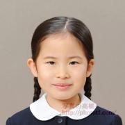 お受験写真小学校 服装,髪型見本