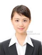上品な微笑みで好評 ES証明用見本9 履歴書の証明写真 表情ステキな笑顔。