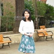 アナウンサー就職用写真 東京 スナップ写真全身表情は 笑顔で