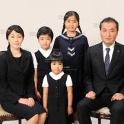 お受験写真,小学校家族写真は東京の受験写真館39