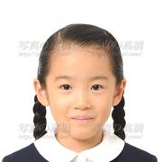 小学校受験写真35 髪型三つ編み