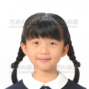小学校受験写真37 髪型三つ編み,服装見本
