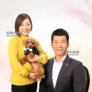 東京フォトスタジオでペットと家族写真