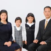受験用家族証明写真 受験用願書写真。お父様のネクタイ,スーツもどうぞ