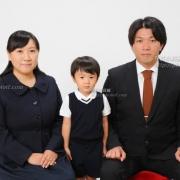 受験用家族証明写真 ネクタイ ,服装 お見本に