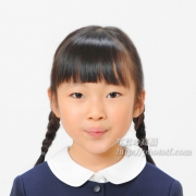 小学校 受験証明写真,三つ編み,前髪,服装お見本