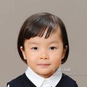幼稚園受験用写真願書用証明写真。髪型,前髪も