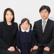 お受験用家族写真 服装、髪型ご参照