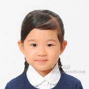 幼稚園お受験写真,願書写真の髪型,三つ編みも