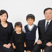 受験用家族写真 ネクタイ,髪型 服装見本