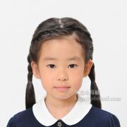 小学校受験 証明写真  髪型三つ編み,前髪 服装見本
