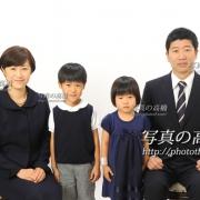 幼稚園,小学校受験用家族証明写真は東京,受験写真館
