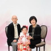 七五三写真18 おじいちゃま,おばあちゃまとご一緒に七五三記念写真