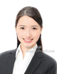 CA 髪型 ハーフアップ 前髪 見本写真