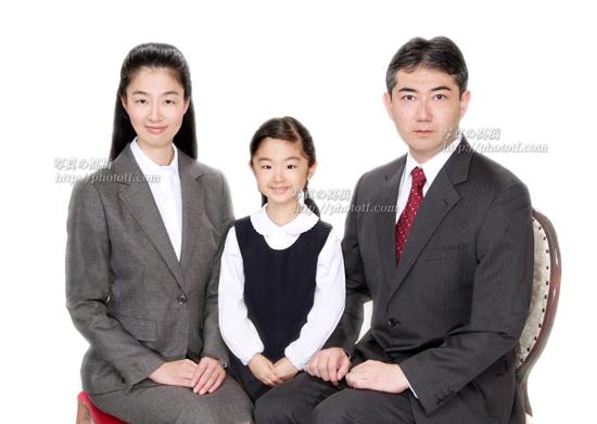 お受験写真 受験用家族証明写真