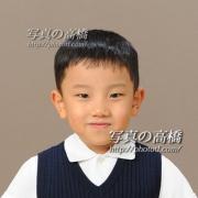 小学校受験写真13 合格されると入学記念でお見え下さいました