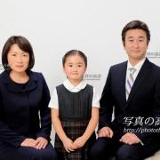 小学校お受験写真3 受験用家族証明写真