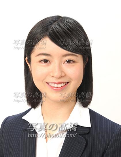 エアライン受験写真,笑顔,髪型ボブ