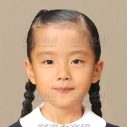 小学校受験写真16,三つ編み髪型,東京,受験写真館
