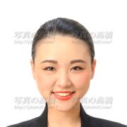 エアライン就職活動写真,髪型前髪