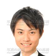 就職活動写真,男性髪型,表情笑顔
