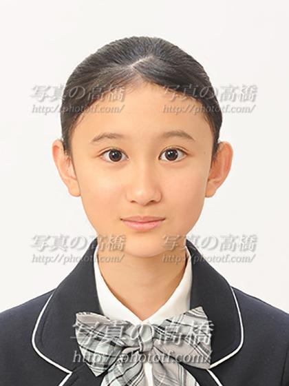 中学校受験写真,髪型,表情