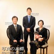 東京,成人式家族写真ペットと一緒に