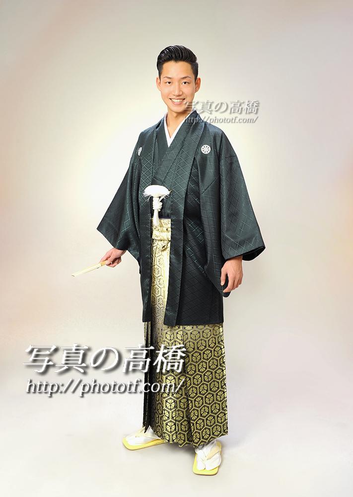 東京フォトスタジオ,成人式写真,男性羽織袴でさっそうと!