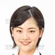 就職活動証明写真笑顔458